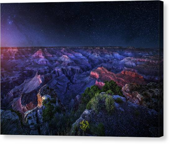 Canyon Canvas Print - Grand Canyon Night by Juan Pablo De