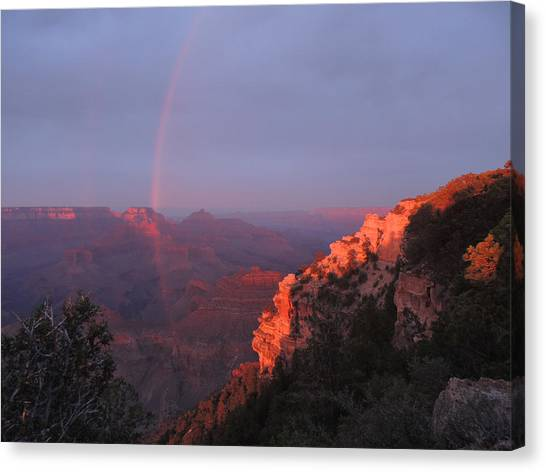 Grand Canyon Rainbow Canvas Print