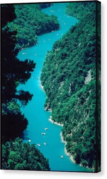 Gorges Du Verdon Canvas Print by Kim Lessel