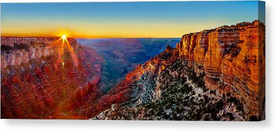 Canyon Canvas Print - Grand Canyon Sunset by Az Jackson