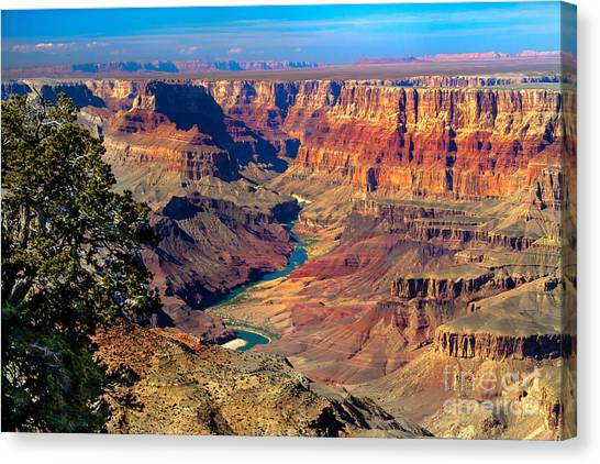 Colorado River Canvas Print - Grand Canyon Sunset by Robert Bales