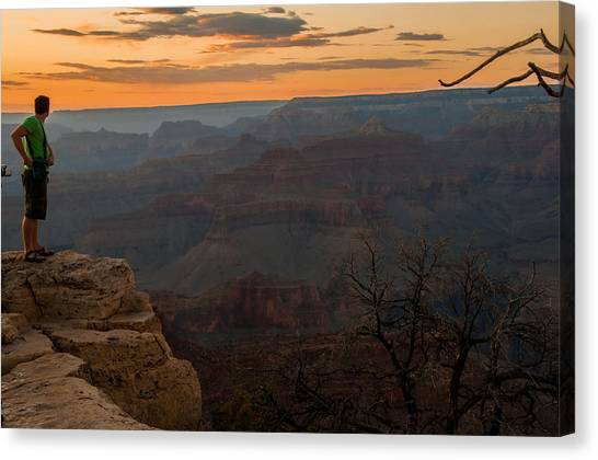 Grand Canyon Sunset Wim Canvas Print