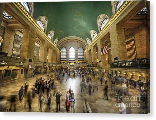 Grand Central Rush Canvas Print