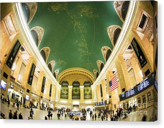 Centennial Canvas Print - Grand Central Station New York City On Its Centennnial  by Diane Diederich