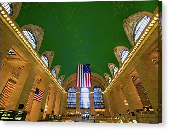Amtrak Canvas Print - Grand Central Station Panoramic View by Panoramic Images