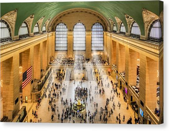 Grand Central Terminal Birds Eye View I Canvas Print