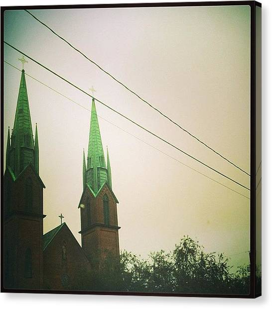 Jerseys Canvas Print - Grand #church #towers #architecture by Red Jersey