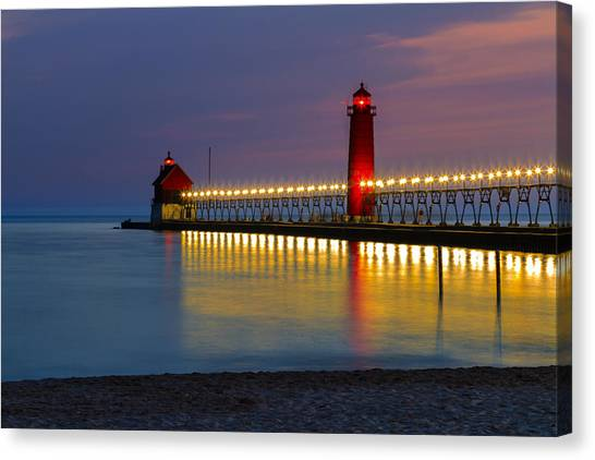 Grand Haven South Pier Lighthouse Canvas Print