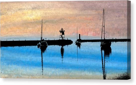 Grand Marais Harbor Canvas Print