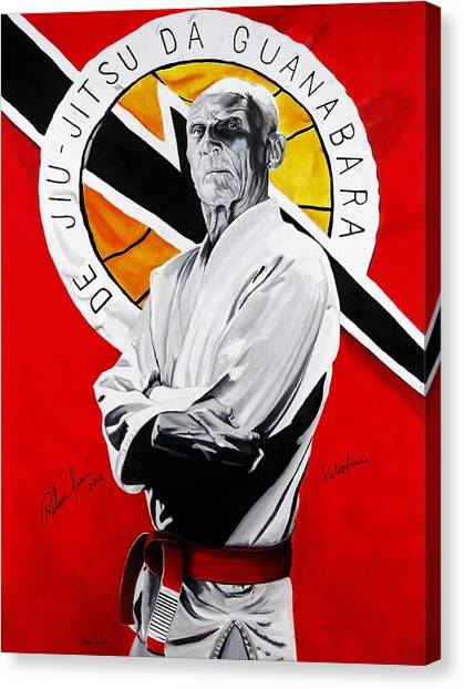 Mma Canvas Print - Grand Master Helio Gracie by Brian Broadway