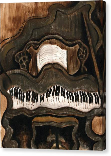 Tommervik Abstract Grand Piano Art Print Canvas Print by Tommervik