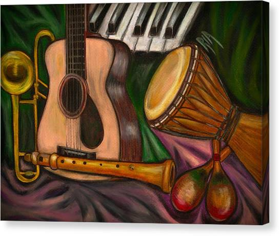 Guitars Canvas Print - Grand Pop by Artist RiA