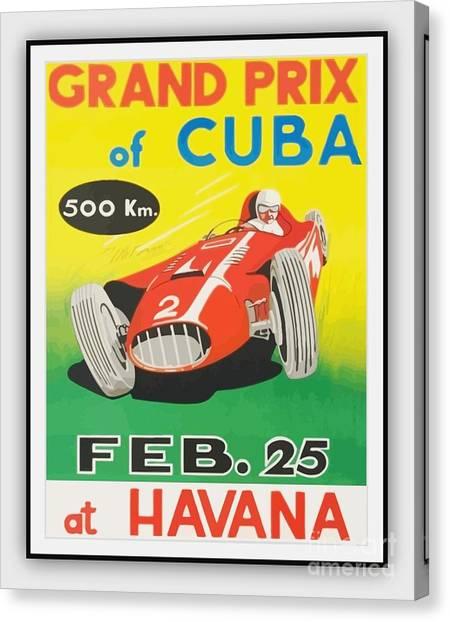 Grand Prix Of Cuba Canvas Print by Roberto Prusso