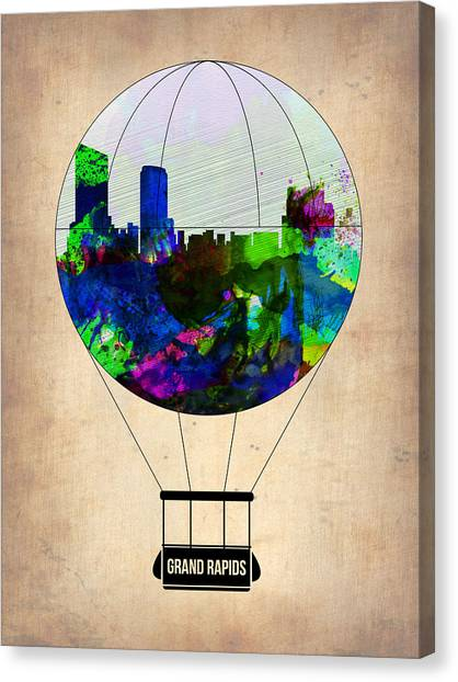 Michigan Canvas Print - Grand Rapids Air Balloon by Naxart Studio