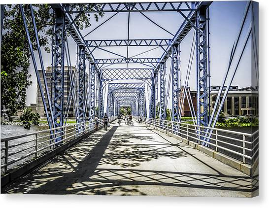 Grand Rapids Bridge Canvas Print