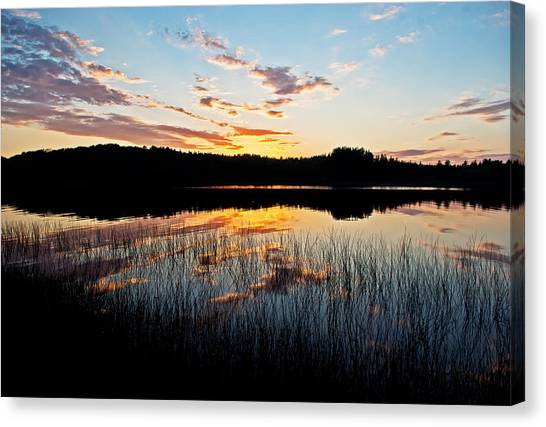 Grand Sable Lake Sunset Canvas Print