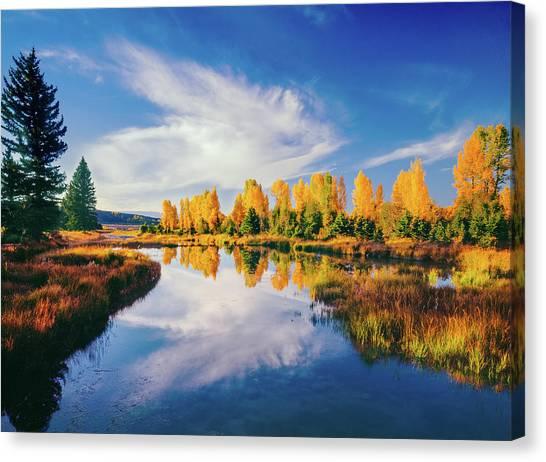 Grand Teton National Park, Wy Canvas Print by Ron thomas