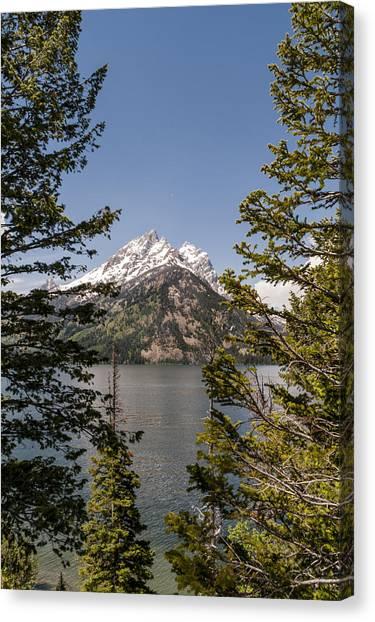Wy Canvas Print - Grand Teton On Jenny Lake - Grand Teton National Park Wyoming by Brian Harig