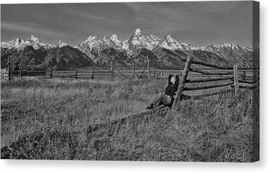 Grand Teton Repose Canvas Print