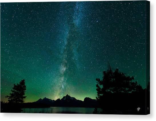 Grand Teton Stars Canvas Print by Robert Yone