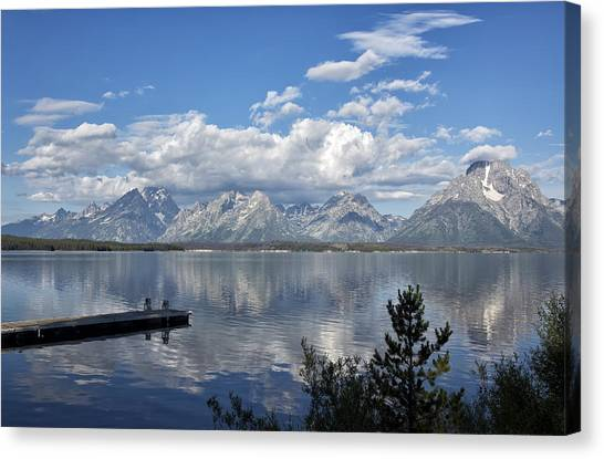 Canvas Print featuring the photograph Grand Tetons In The Morning Light by Belinda Greb