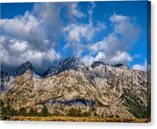 Mountain View Canvas Print - Grand Tetons by Kathleen Bishop