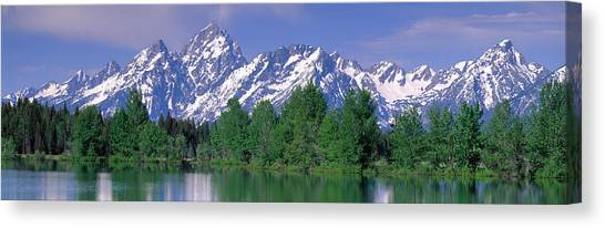 Wy Canvas Print - Grand Tetons National Park Wy by Panoramic Images
