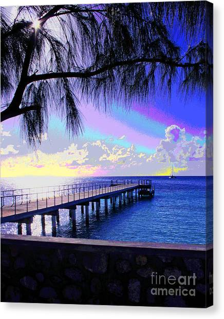 Grand Turk Sunset Canvas Print
