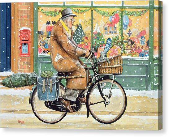 Grandpa Canvas Print - Grandad Is Coming For Christmas by Tony Todd