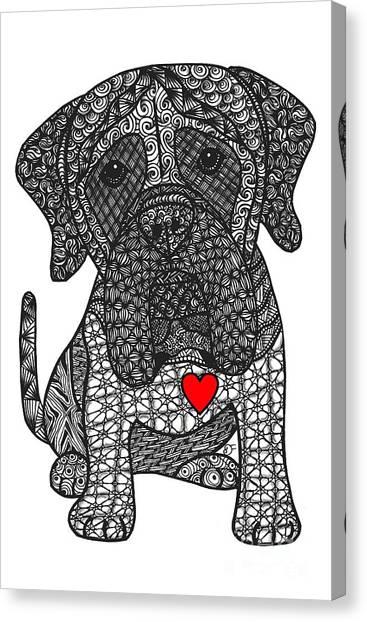 Grandeur - Mastiff Canvas Print
