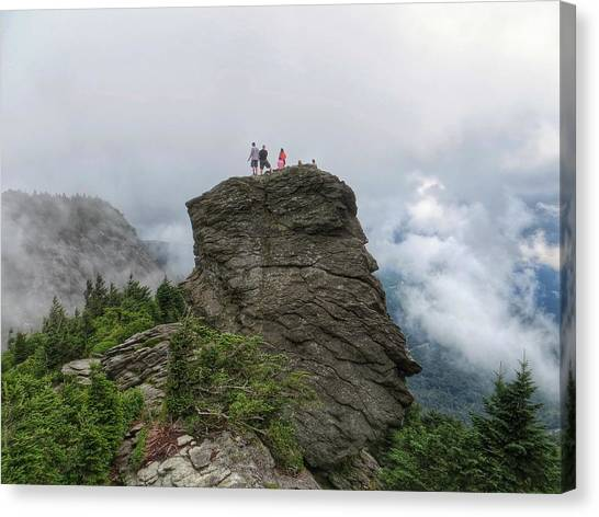 Grandfather Mountain Hikers Canvas Print