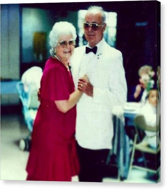Grandpa Canvas Print - #grandma And #grandpa #dancing by Theresa Kidd