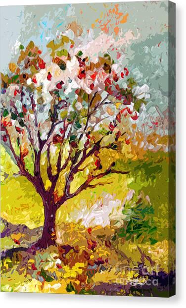 Grandmas Apple Tree Modern Art Canvas Print
