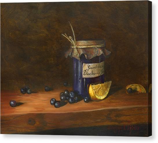 Grandma's Blueberry Jam Canvas Print