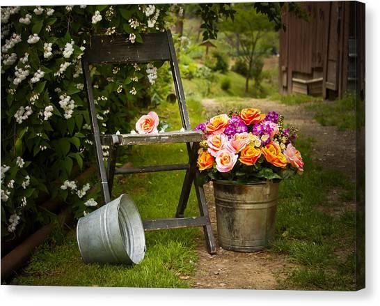 Grandma Canvas Print - Grandma's Flowers by Lena Auxier
