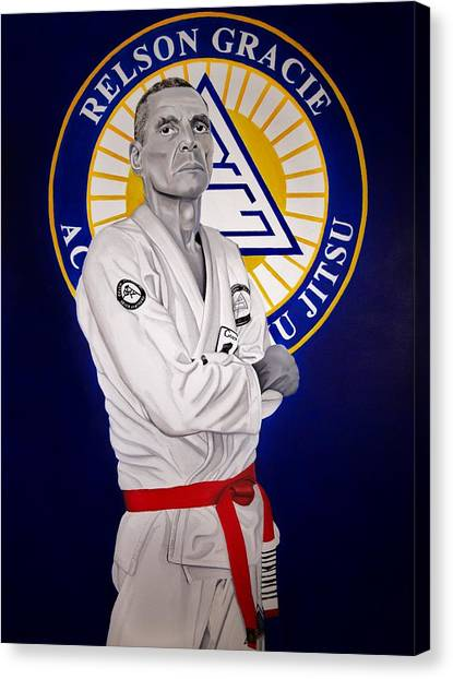 Mma Canvas Print - Grandmaster Relson Gracie by Brian Broadway