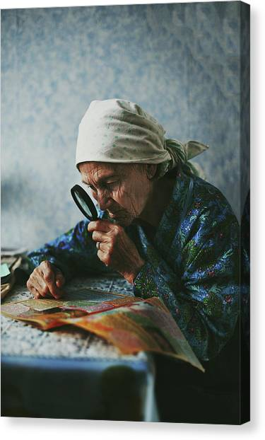 Russian Canvas Print - Grandmother by Natalia Zhukova