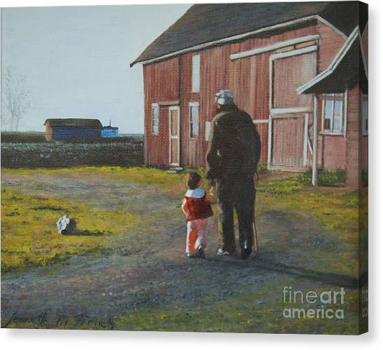 Grandpa And Me Canvas Print