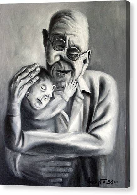 Grandpa Canvas Print - Grandpa by Anthony Falbo