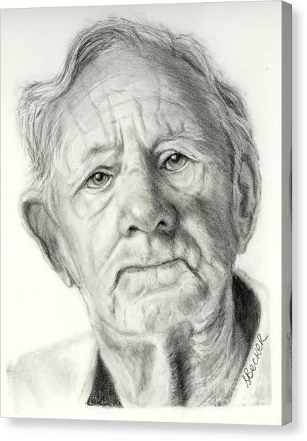 Grandpa Full Of Grace Drawing Canvas Print