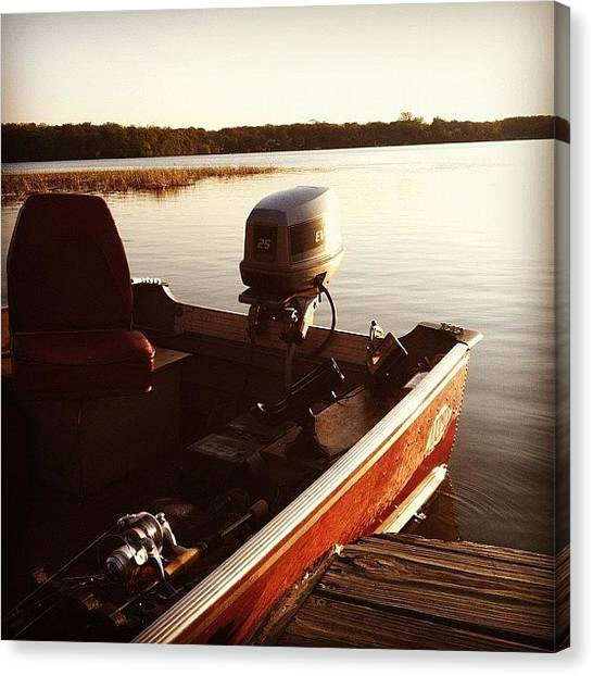 Bass Fishing Canvas Print - Grandpa's Boat by Spencer Neuberger