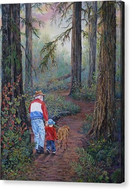 Grandpa's Pathway  Canvas Print
