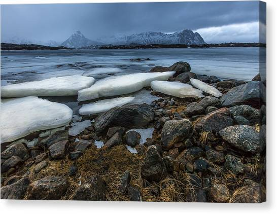 Granite And Ice Canvas Print