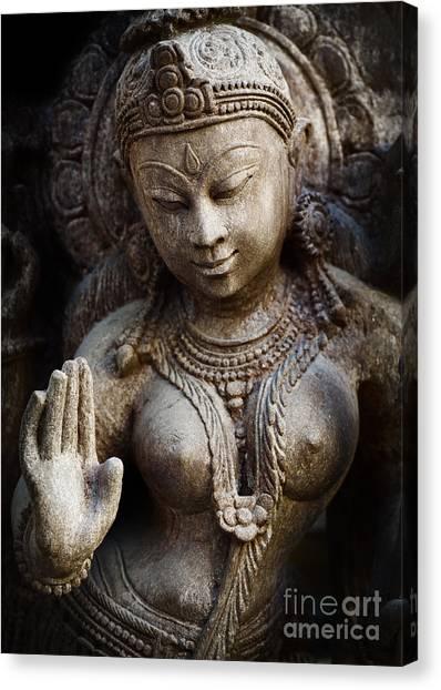 Hindu Goddess Canvas Print - Granite Indian Goddess by Tim Gainey