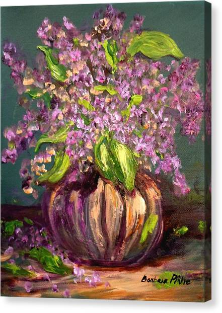 Granny Mabry's Lilacs Canvas Print by Barbara Pirkle