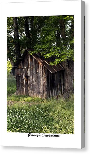 Granny's Smokehouse Canvas Print by Terry Spencer