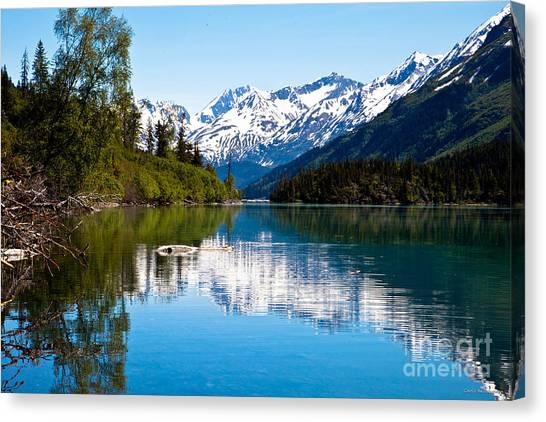 Grant Lake Canvas Print by Chris Heitstuman
