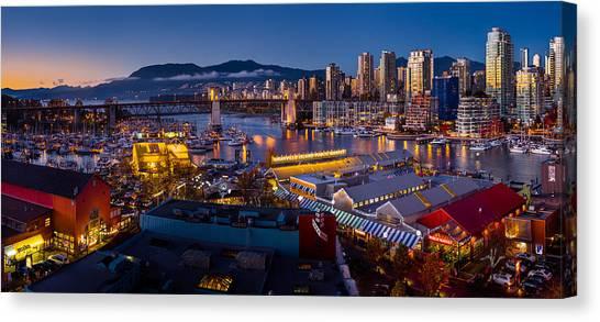 Vancouver Skyline Canvas Print - Granville Island Public Market by Alexis Birkill