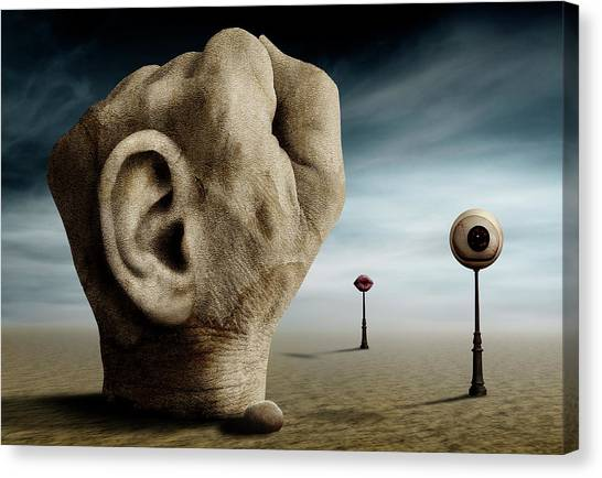 Ears Canvas Print - Grap The Power Of Communication. by Ben Goossens