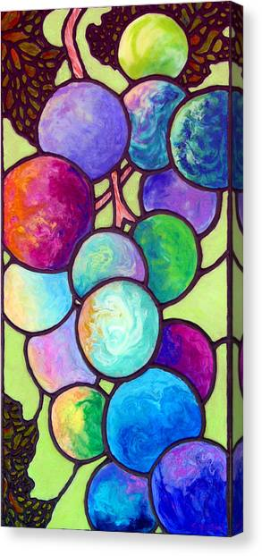 Canvas Print featuring the painting Grape De Chine by Sandi Whetzel